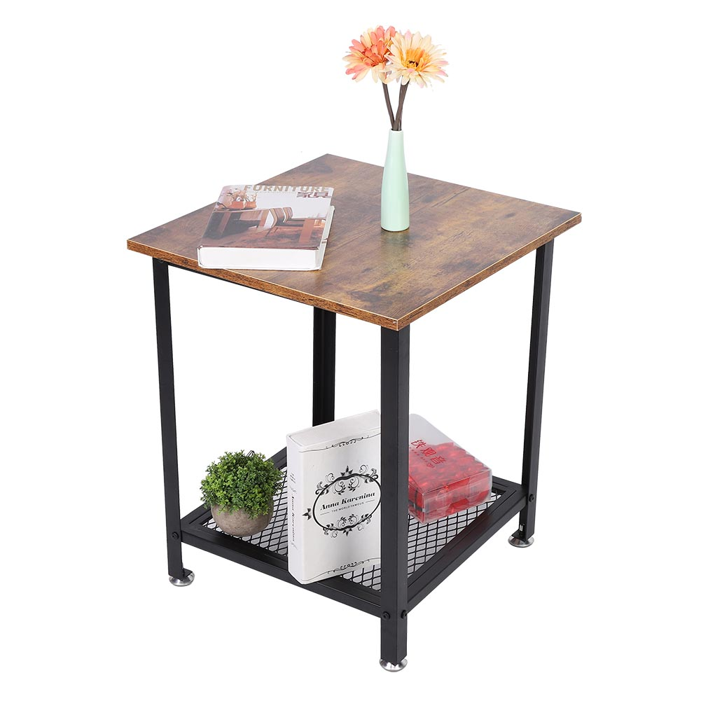 DOACT Wrought Iron Side Table Coffee End Table with ...