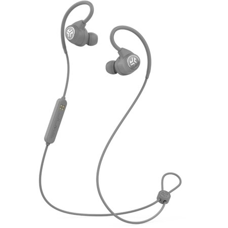 JLab Audio Epic Sport Sweat-Resistant Wireless Over-Ear Hook Design In-Ear Headphones with In-line Mic, Gray (New Open Box)