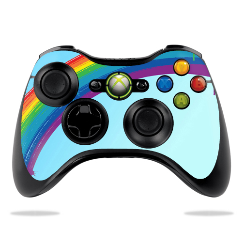 Protective Vinyl Skin Decal Cover for Microsoft Xbox 360 Controller wrap sticker skins Rainbow