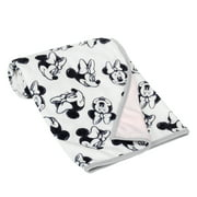 Lambs & Ivy Disney Baby MINNIE MOUSE Baby Blanket - White/Pink Minky/Jersey