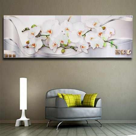 Modern Abstract Magnolia Flower Painting Picture Wall Sticker Home Decor Unframed (Flower Printing)
