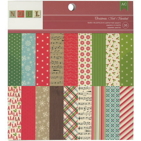 American Crafts 97198 American Crafts Paper Pad 6x6 36/Pkg -Christmas](Paper Christmas Crafts)