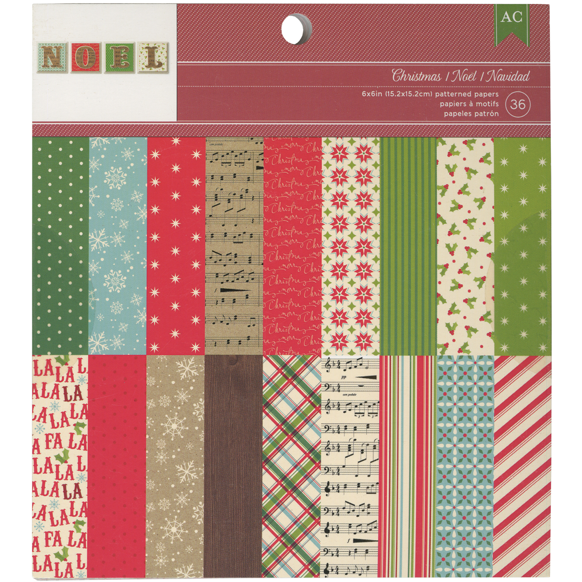 American Crafts 97198 American Crafts Paper Pad 6x6 36/Pkg -Christmas