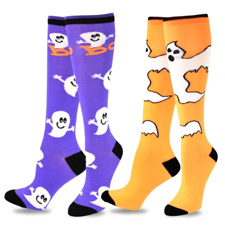 TeeHee Novelty Halloween Fun Knee High Socks for Women 2-Pack - Halloween Knee High Socks Walmart
