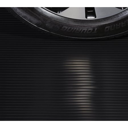 G-Floor Ribbed Universal Flooring 9' x 20' Premium Grade Thickness Midnight Black