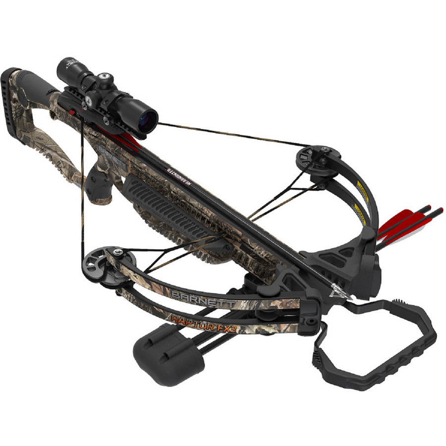 Click here to buy Barnett Raptor FX3 Crossbow Package with 2 Bolts by Barnett.