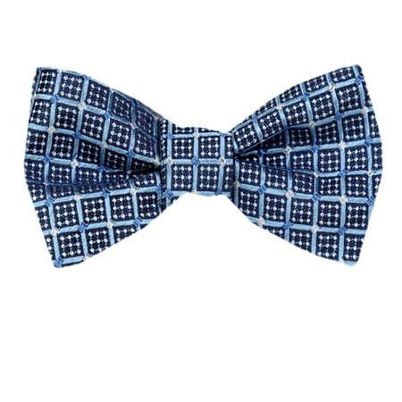 Circle Silk Tie - Mens Silk Pattern Dot Paisley Designer Self Tie Bow Tie
