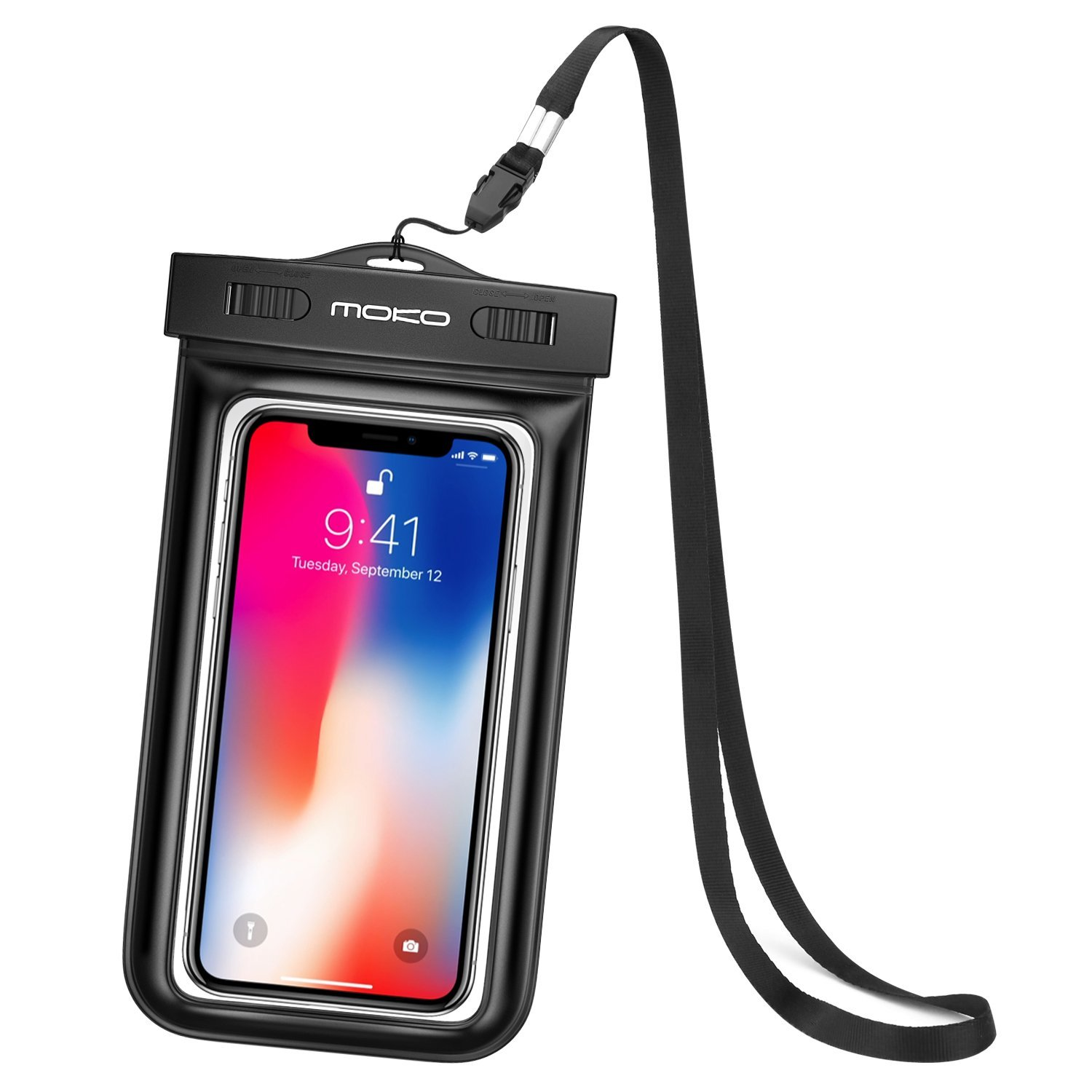 Waterproof Phone Case, Universal Waterproof CellPhone Dry Bag Pouch with Neck Strap for iPhone X/8 Plus/8/7/6S Plus, Galaxy S9/S9+/S8/S8+/S7 Edge, MOTO, LG, BLU, Nexus & More