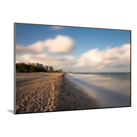Empty Beach at Fort Lauderdale Wood Mounted Print Wall Art By Circumnavigation