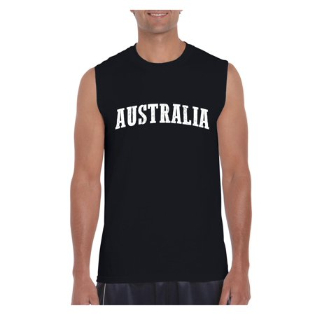 Australia Men Ultra Cotton Sleeveless T-Shirt (Best T Shirts Australia)
