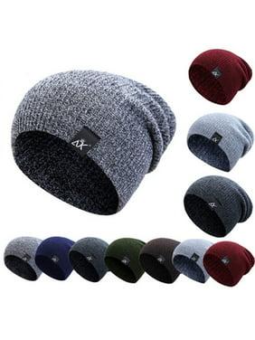 Unisex Men Women Knit Baggy Beanie Winter Hat Ski Slouchy Chic Knitted Cap Skull