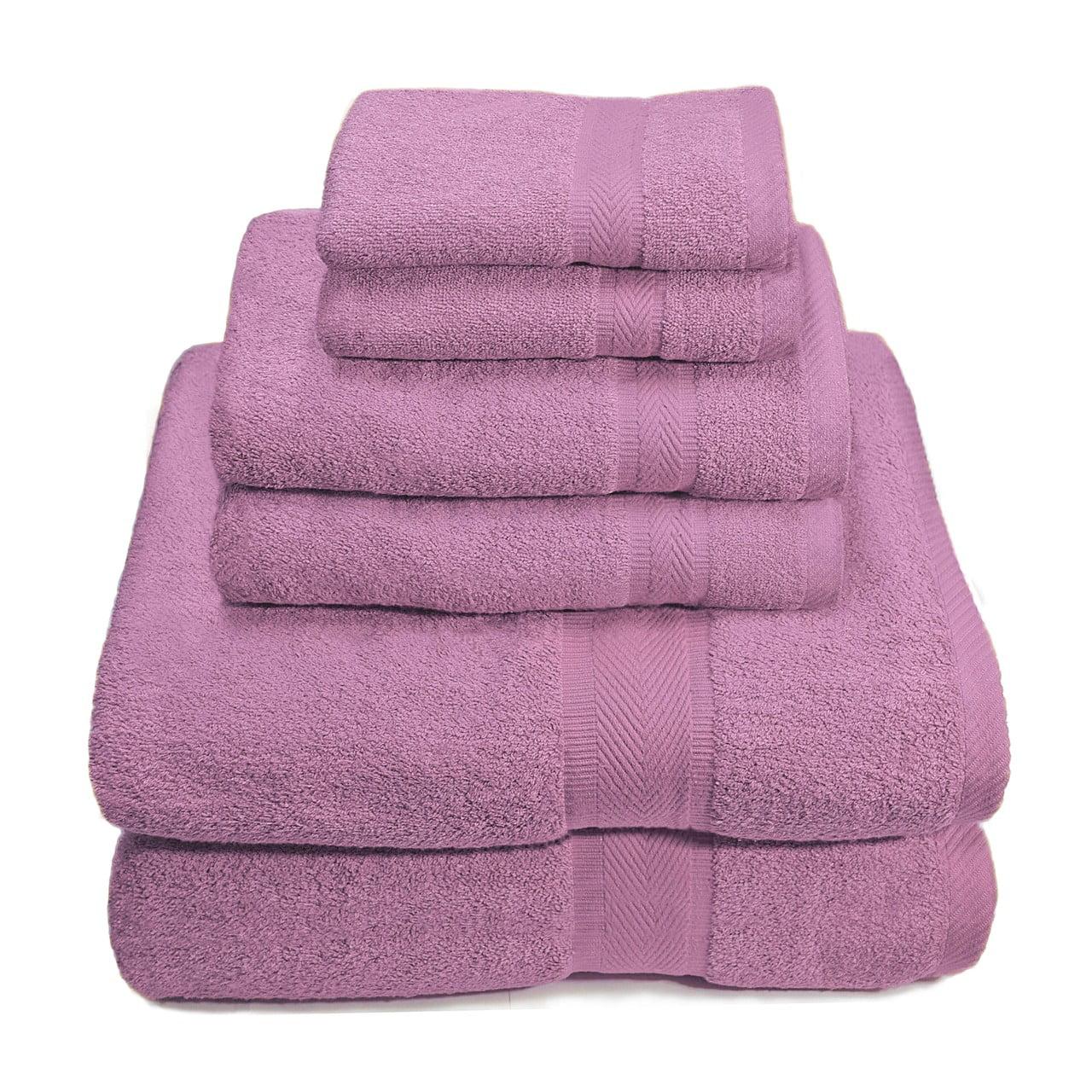 6 Piece Premium Egyptian Cotton Towel Set, Bath Towels, Hand Towels, Wash Cloths - Gray