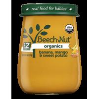 (10 Jars) Beech-Nut Organics Baby Food Jar, Stage 2, Banana, Mango & Sweet Potato, 4 oz