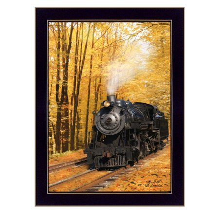 """Fall Locomotive"" By Lori Deiter, Printed Wall Art, Ready To Hang Framed Poster, Black Frame - image 1 de 1"