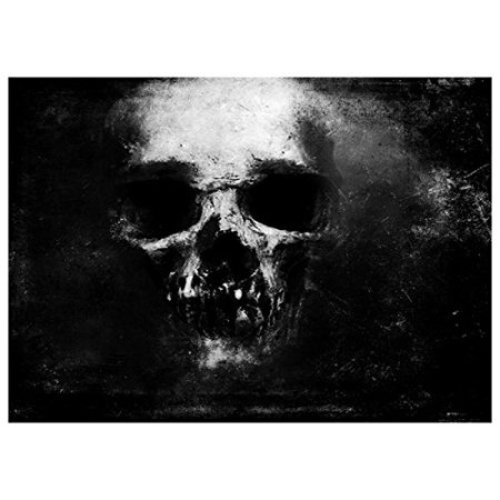 ABPHOTO Polyester Photography Background Photo Backdrops Magic Theme Photography Studio background Props Skull, bones for Halloween 7x5ft