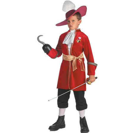 Peter Pan Kid Costume (Peter Pan Disney Captain Hook Toddler / Child Costume -)