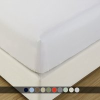 Luxury Fitted Sheets Sold Separately, Soft 100% Cotton 600 Thread Count Fitted Sheet - Twin XL - White