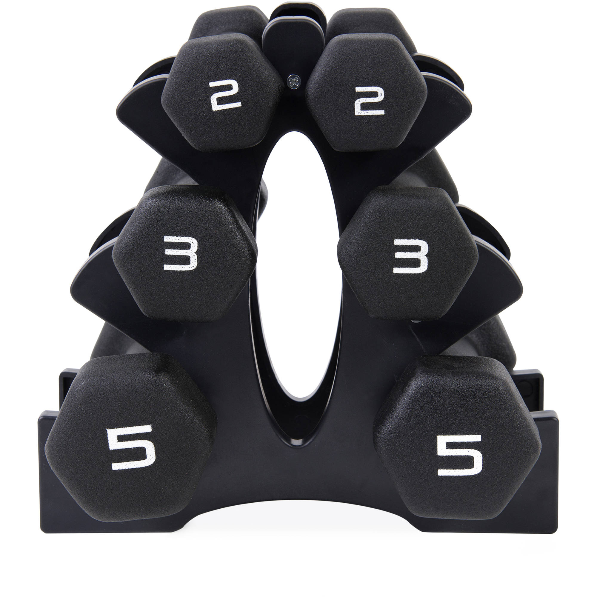 CAP 20 lb Neoprene Dumbbell Set with Rack