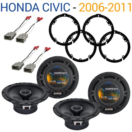 Honda Civic 2006-2011 Factory Speaker Replacement Harmony (2) R65 Package