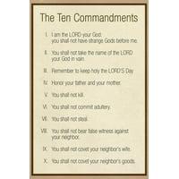 The Ten Commandments - Catholic Print Wall Art