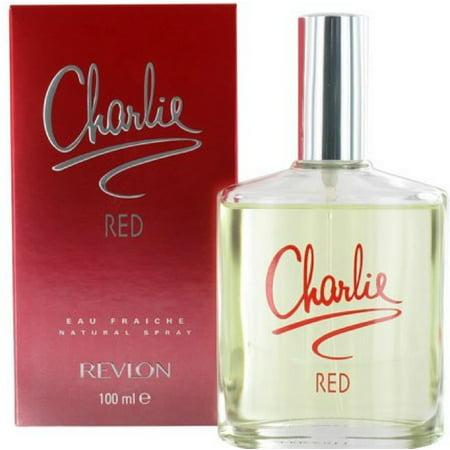 4 Pack - Charlie Red By Revlon Eau Fraiche Spray For Women 3.4 oz (Eau Fraiche Natural Spray)