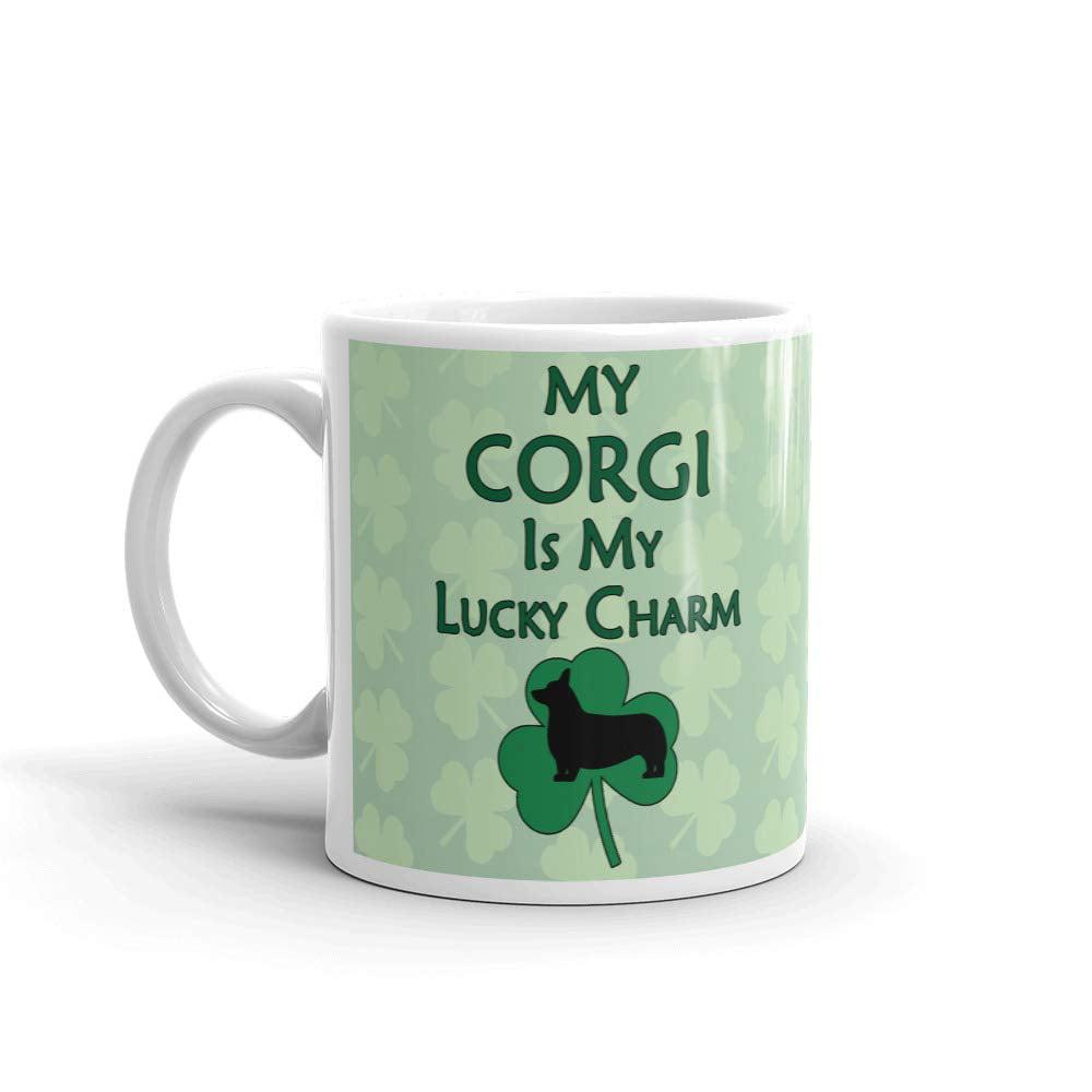 Corgi Gift My Corgi is my Lucky Charm Coffee Mug Tea Cup