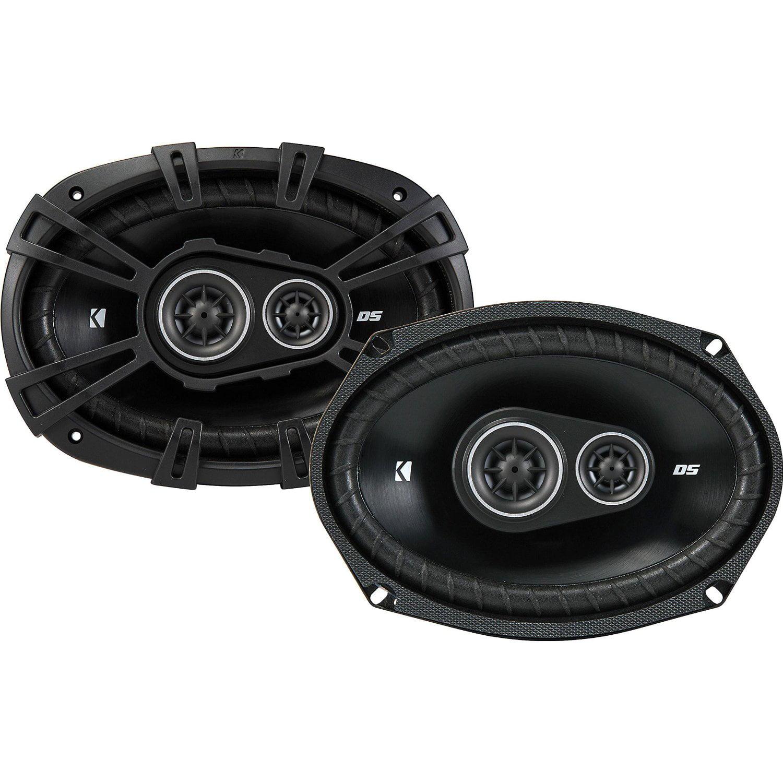 KICKER 43DSC69304 6x9-Inch (160x230mm) 3-Way Speakers, 4-Ohm
