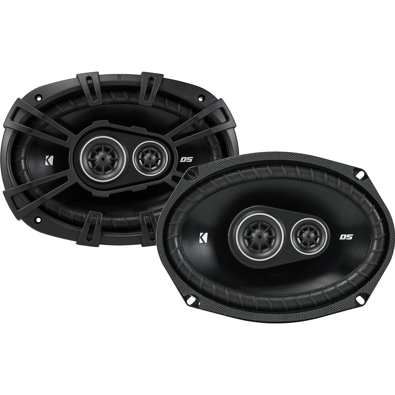 KICKER 43DSC69304 6x9-Inch (160x230mm) 3-Way Speakers, 4-Ohm