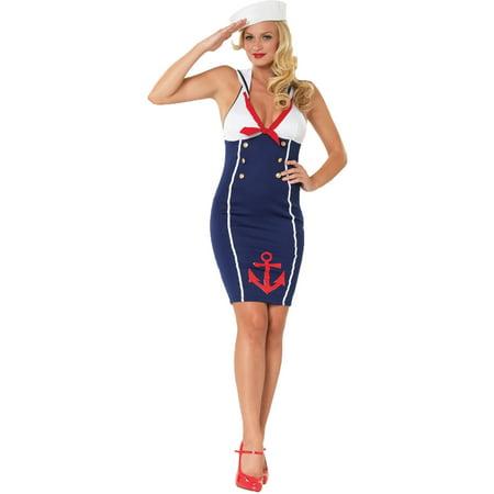 Ahoy There Hottie Women's Adult Halloween Costume - Halloween Hottie