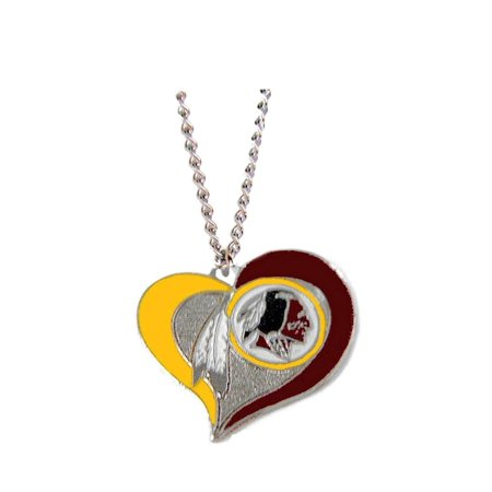 Redskins NFL Swirl Heart Necklace (Raiders Necklace)