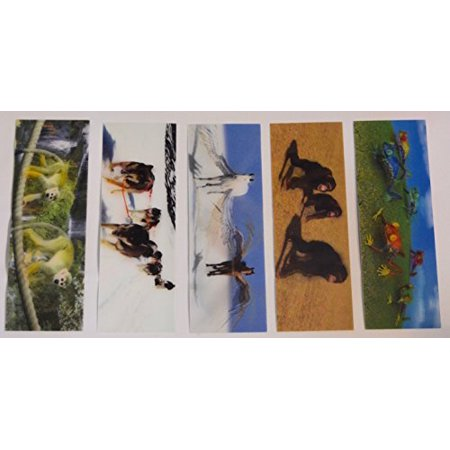 3D Motion Chimp - Tree Frog – Pegasus – Sledding Dogs – Monkeys - Bookmarks and Rulers For Kids