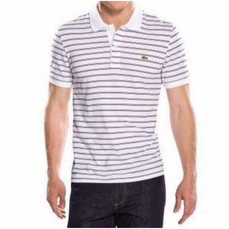sports shoes 70abb 42863 Lacoste NEW White Mens Size XL Striped Embroidered Logo Polo Shirt