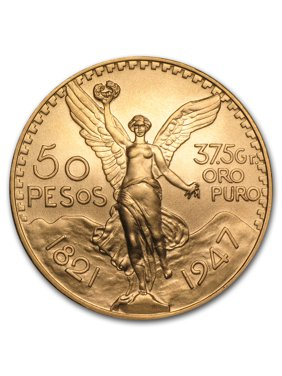 1947 Mexico Gold 50 Pesos BU