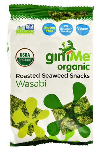 GimMe Organic Roasted Seaweed Snacks Wasabi -- 0.17 oz pack of 1 by Gimme