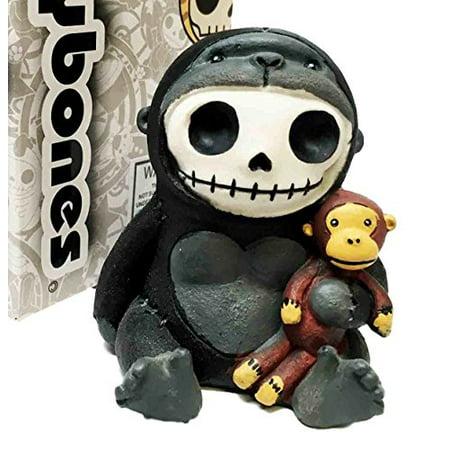 Furrybones Kongo Gorilla King Kong Cute Skeleton Monster Ornament Figurine (Cute Gorillas)
