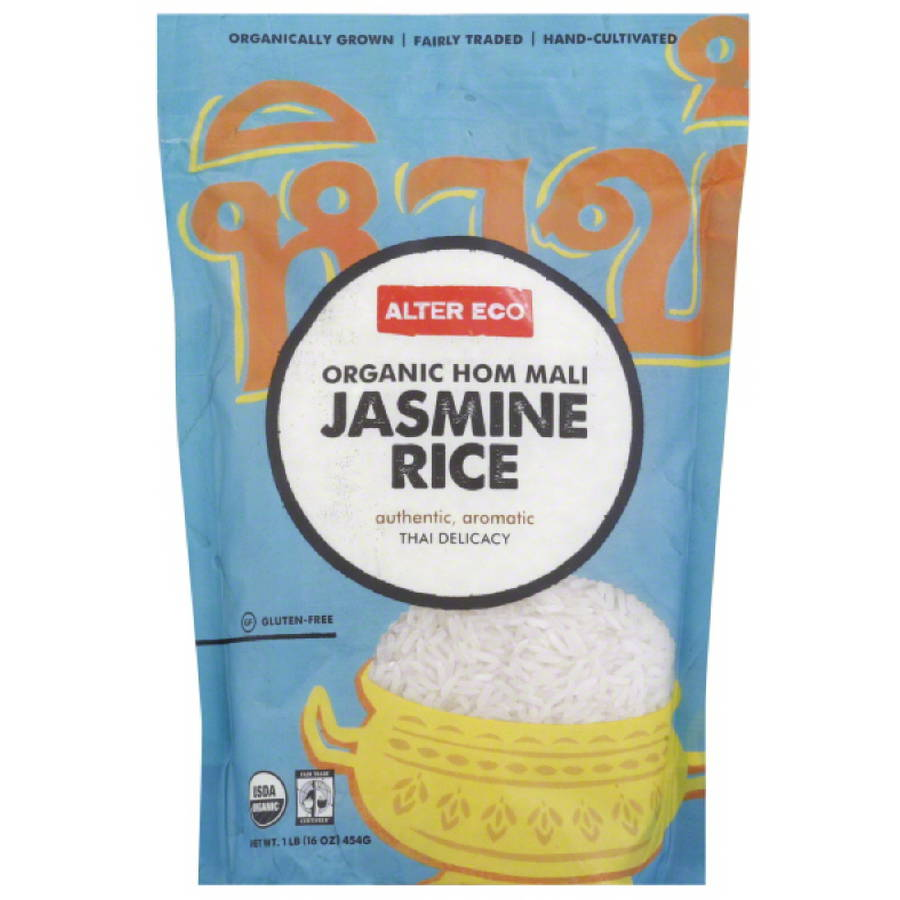 Alter Eco Organic Hom Mali Jasmine Rice, 16 oz, (Pack of 8)