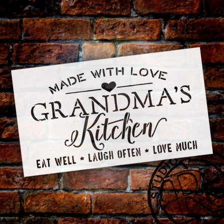 Made with Love Always Fresh Kitchen Stencil by StudioR12 | Word Stencil - Reusable Mylar Template | Acrylic- Chalk - Mixed Media | Mothers Day - DIY Home Decor - STCL2630 - Choose Size (16