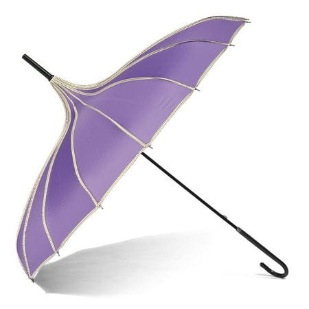 Unfoldable Umbrella Creative Vintage Pagoda Parasol Bridal Wedding Party Sun Rain UV Rain Umbrella](Black Parasol)