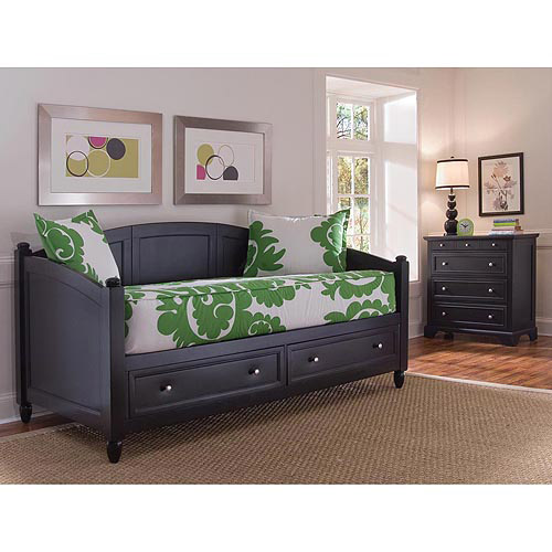 Home Styles Bedford Day Bed and Chest Furniture Set, Black by Generic