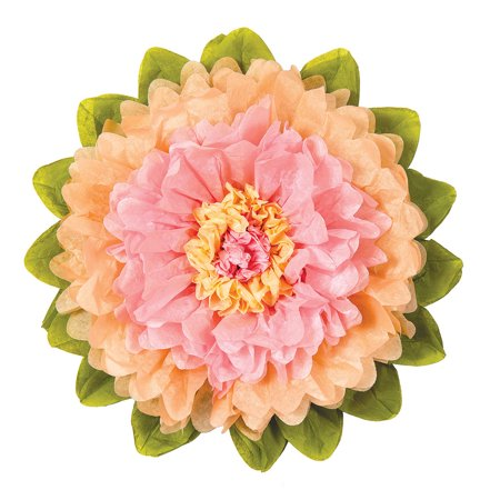Extra Large Tissue Paper Flower (20-Inch, Pink & Cantaloupe Orange)](Tissue Paper Flower)