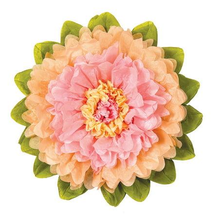 Extra Large Tissue Paper Flower (20-Inch, Pink & Cantaloupe (12 Orange Tissue)
