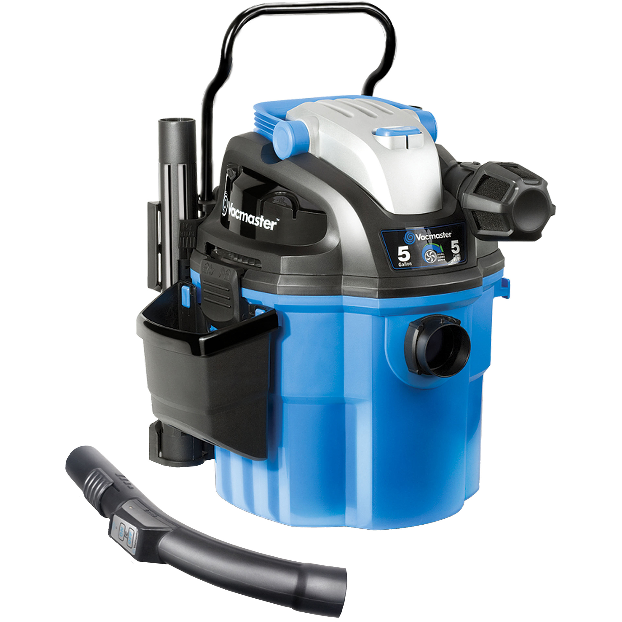 Vacmaster Wall Mountable Wet/Dry Bagless Vacuum with Remote Control, VWM510