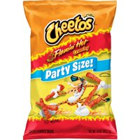 Cheetos Crunchy Flamin' Hot Cheese Flavored Snacks, Party Size, 15 oz Bag