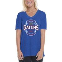2de2c5ceafd Product Image Women s Royal Orange Florida Gators Double Ribbon Arch V-Neck  T-Shirt