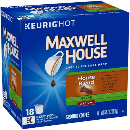 Maxwell House House Blend Decaf Coffee Pods  18 Pods