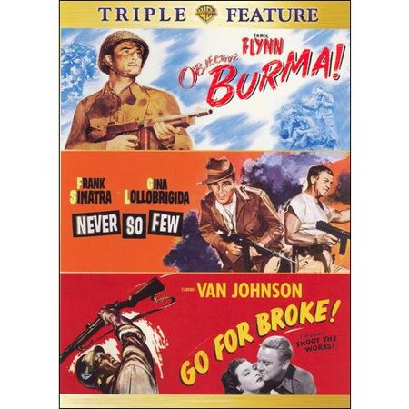 Objective, Burma! / Never So Few / Go For Broke (Triple Feature) (Full Frame, Widescreen)