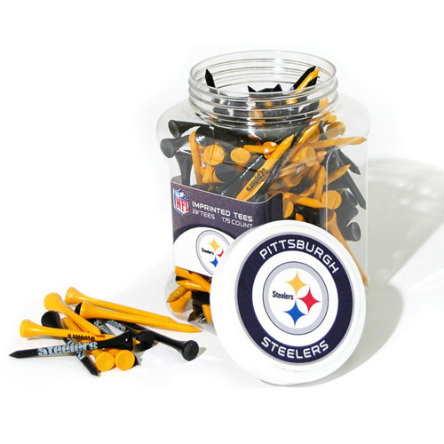 Team Golf NFL Pittsburgh Steelers Jar Of 175 Golf Tees by Team Golf