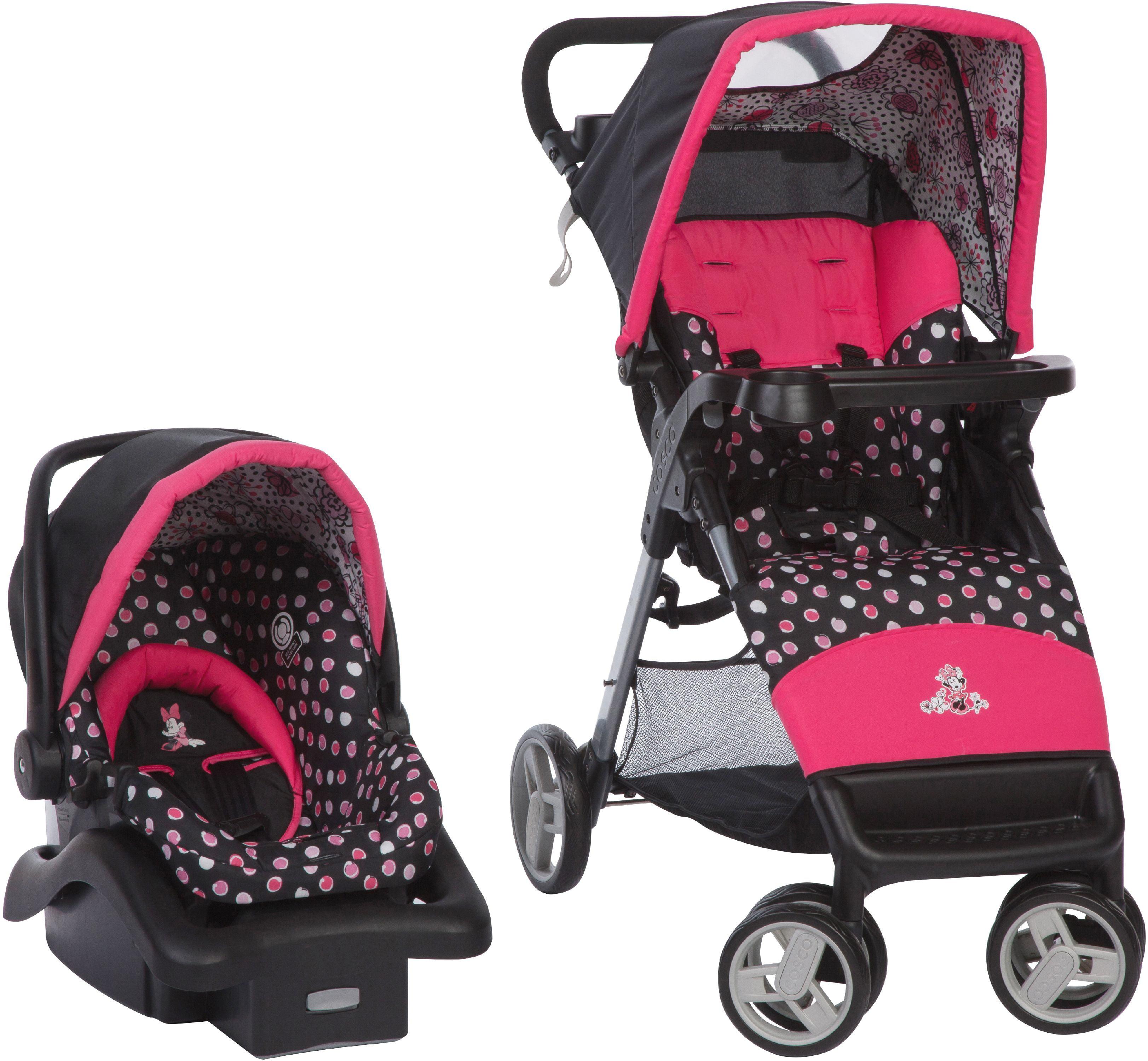 Disney Baby Simple Fold LX Travel System, Minnie Mash Up