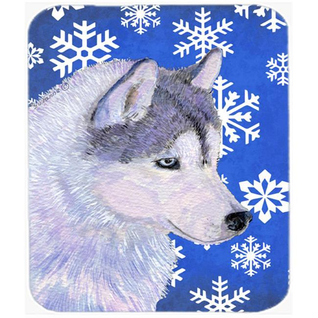 Carolines Treasures SS4602MP Siberian Husky Winter Snowflakes Holiday Mouse Pad, Hot Pad Or Trivet - image 1 de 1