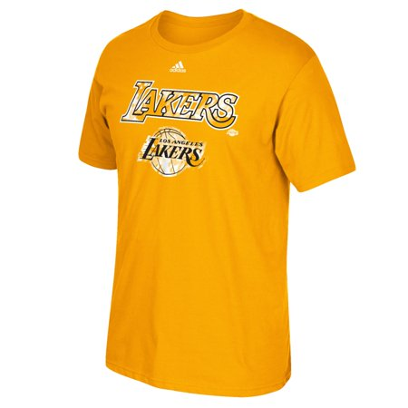 Los Angeles Lakers Adidas Nba  Energy Wordmark  Mens Short Sleeve T Shirt